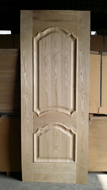 Natural Teak Veneer HDF MDF Door Skin For Commercial Interior Wood Doors Faced