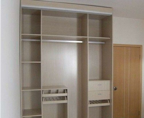 Home Laminated Particle Board Cabinets / Finished White Melamine Bedroom Furniture