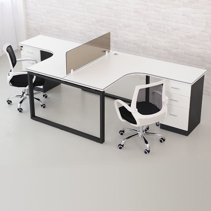 Small White Wood Computer Workstation , Neat Home Office Desk Furniture Wood